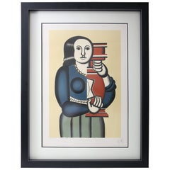 "Fernand Leger's ""Woman Holding a Vase"", Lithograph by Jacques Villon"