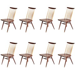 "George Nakashima ""New"" Chairs, Set of Eight, Authenticated 1960s Production"