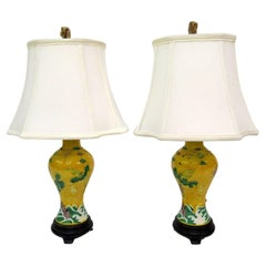 Pair of Mid-20th Century Chinese Porcelain Lamps
