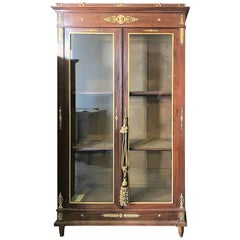 19th Century French Empire Display Cabinet Bookcase