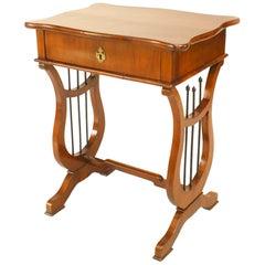 Austrian Biedermeier 19th Century Mahogany End Table