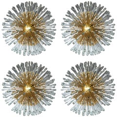 Austrian Sputnik Light Fixtures with 20 Lights, Set of Four