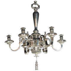 Silver Plated Caldwell Six-Light Chandelier