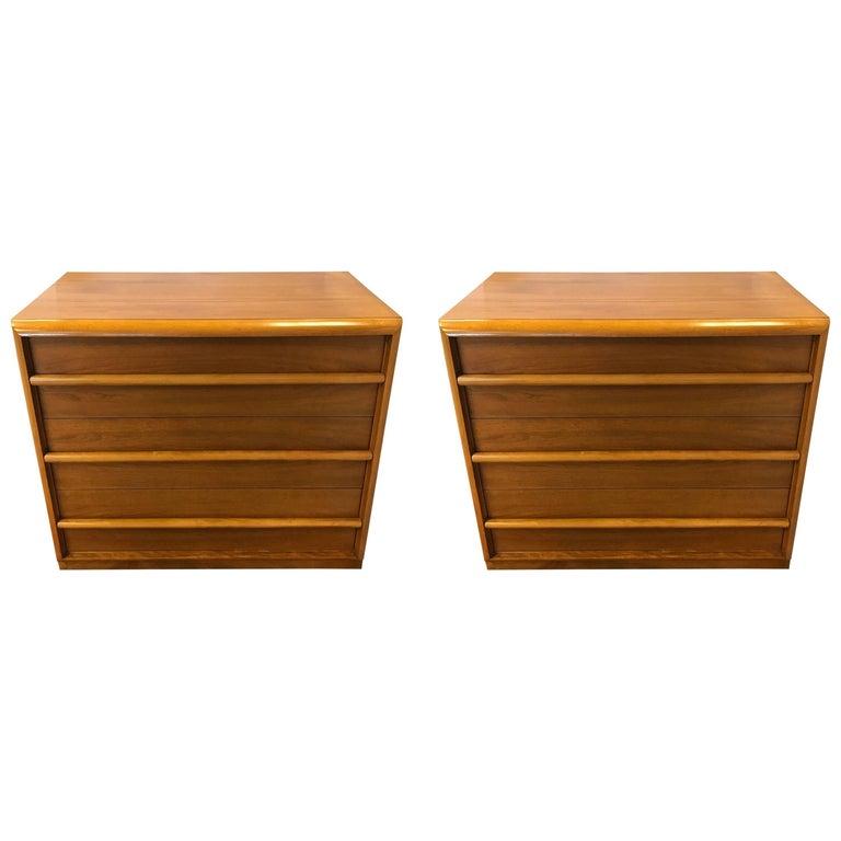 Pair of T.H. Robsjohn-Gibbings for John Widdicomb Chests Dressers Chests Drawers
