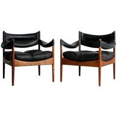 "Kristian Vedel ""Modus"" Danish Rosewood Lounge Chairs, circa 1960, Pair"