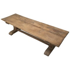 French Rustic Ancient Farm House Trestle Dining Table