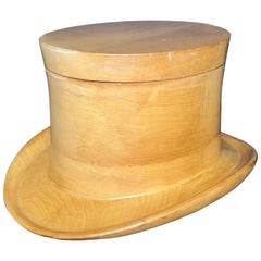 Wooden Ice Bucket in the Shape of a Top Hat, 1970, Mid-Century Modern