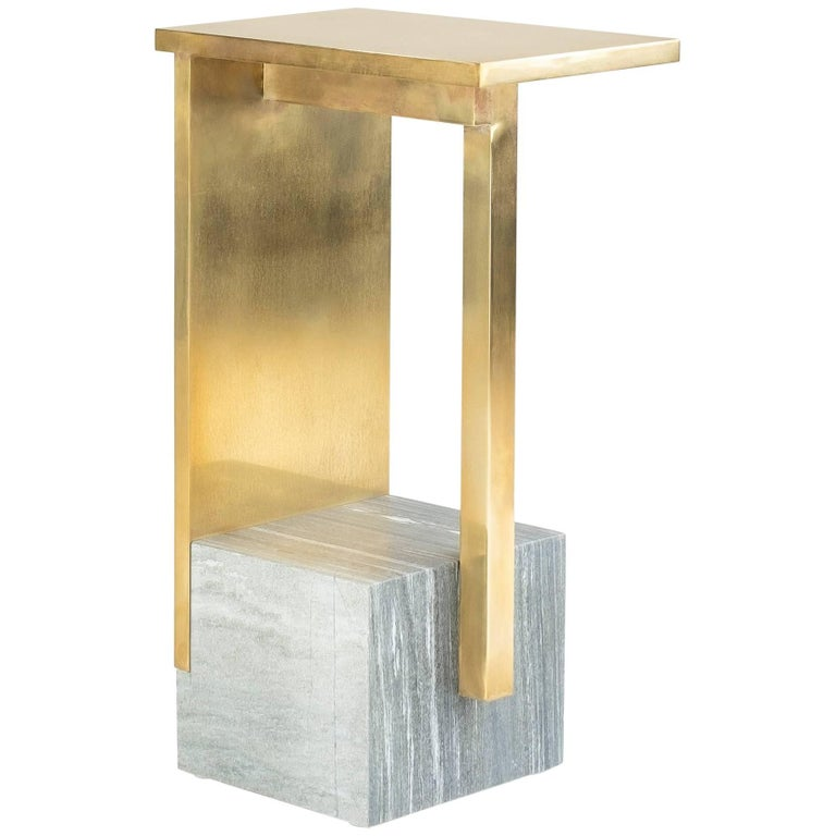 IF Table IV, Brass and Marble, Signed Noro Khachatryan