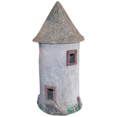 Vintage French Garden Cement Birdhouse
