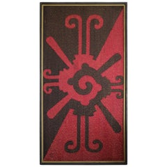 Black and Red Mid-Century Tapestry