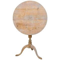 Late Swedish Gustavian Tilt-Top Table, circa 1800