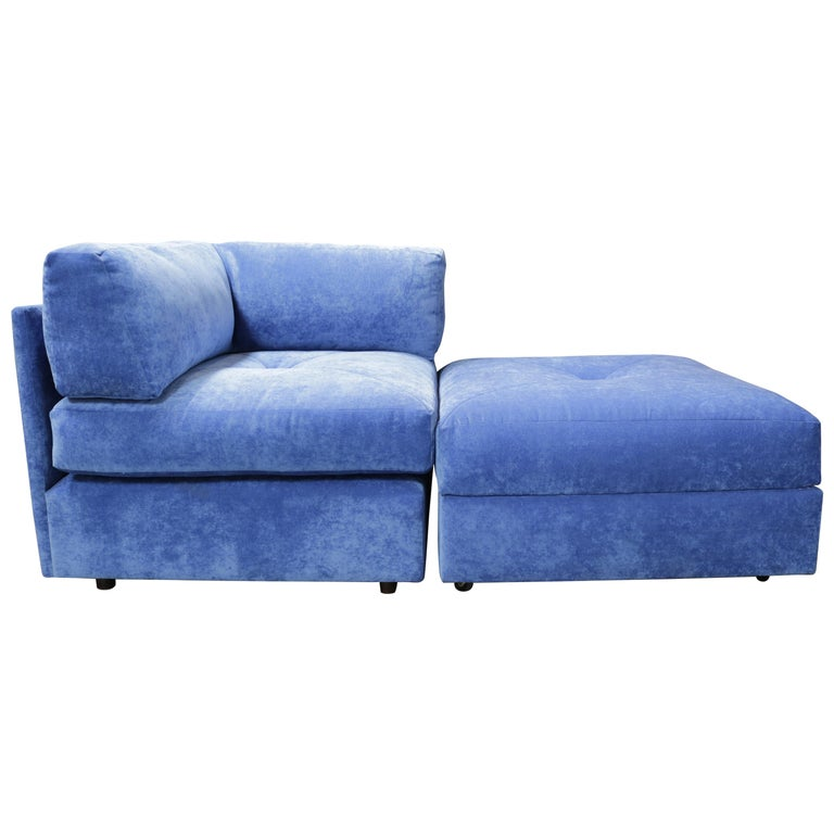 Milo Baughman for James Inc. Furniture Two-Piece Settee For Sale