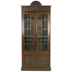 Antique Oak Bookcase, Arts & Crafts Bookcase, Scotland 1910, Antique Furniture