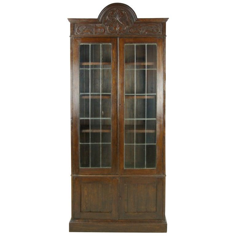 Antique Oak Bookcase, Arts & Crafts Bookcase, Scotland 1910, Antique Furniture For Sale