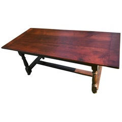 English Tavern Table, Late 18th Century Walnut, Cherry