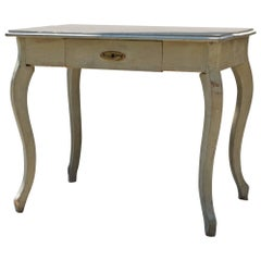 19th Century French Writing / Work Table in Gustavian Paint