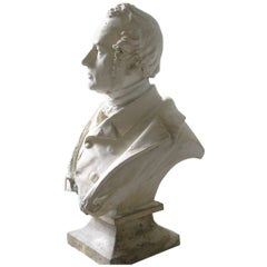 Bust of Victorian Gentlemen with Inscription A.Majson, 1857
