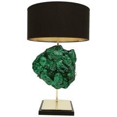 Giant Malachite Specimen Lamp