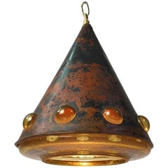 Nanny Still McKinney Brutalist Cone Shaped Ceiling Light by RAAK, 1960s