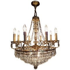 Empire Style Waterfall Chandelier with Crystals