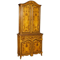 Spanish Sideboard in Lacquered and Giltwood from 20th Century