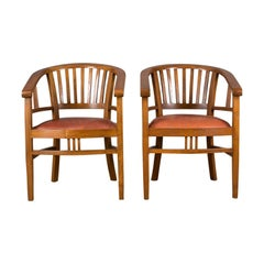 Pair of Elbow Chairs, 20th Century Contemporary, Tub, Dining Armchairs
