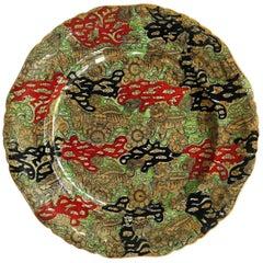 Mason's Ironstone Large Dinner Plate Chinoiserie Bandana Pattern, circa 1870