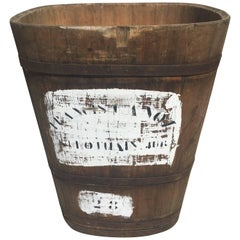Large Stencilled Alsatian Wooden Master Grape Collection Tub Planter