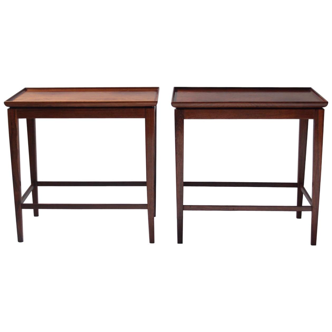 Cabinetmaker Jacob Kjær Rosewood Side Tables, 1950s