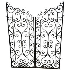 Pair of French Rococo Wrought Iron Gates