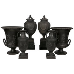 Collection Wedgwood Black Basalt Vases