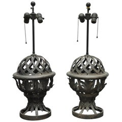 Pair of Metal Lamps