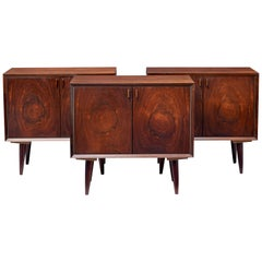 Set of Three 1970s Danish Rosewood Cabinets