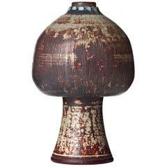 Unique Farsta Stoneware Vase by Wilhelm Kåge for Gustavsberg, 1955