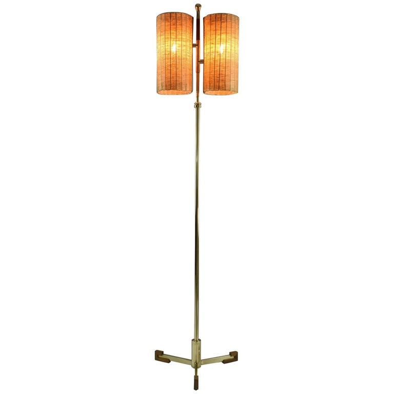 Equilibrium-II MIV Contemporary Adjustable Rattan Floor Lamp, Flow Collection