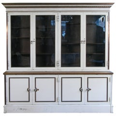 Antique 19th Century Steel and Glass Bookcase Cabinet by Carnegie