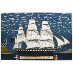 Sailor's Woolwork of HMS Nankin, circa 1865
