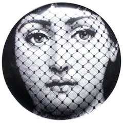 Piero Fornasetti Tema E Variazioni Porcelain Plate, Themes and Variations