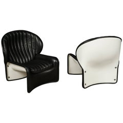 Pair of Midcentury Lounge Chairs from Switzerland, circa 1970