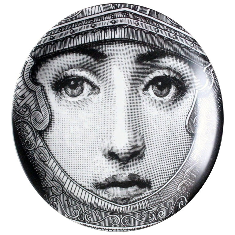 Piero Fornasetti Tema E Variazioni Porcelain Plate, Themes and Variations