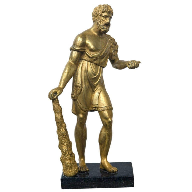 Gilt Bronze Standing Figure of Hercules