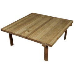 Rare Oak Coffee Table in Oak from Denmark, circa 1960