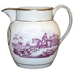 Wedgwood Pearlware Fox Hunting Jug, circa 1810