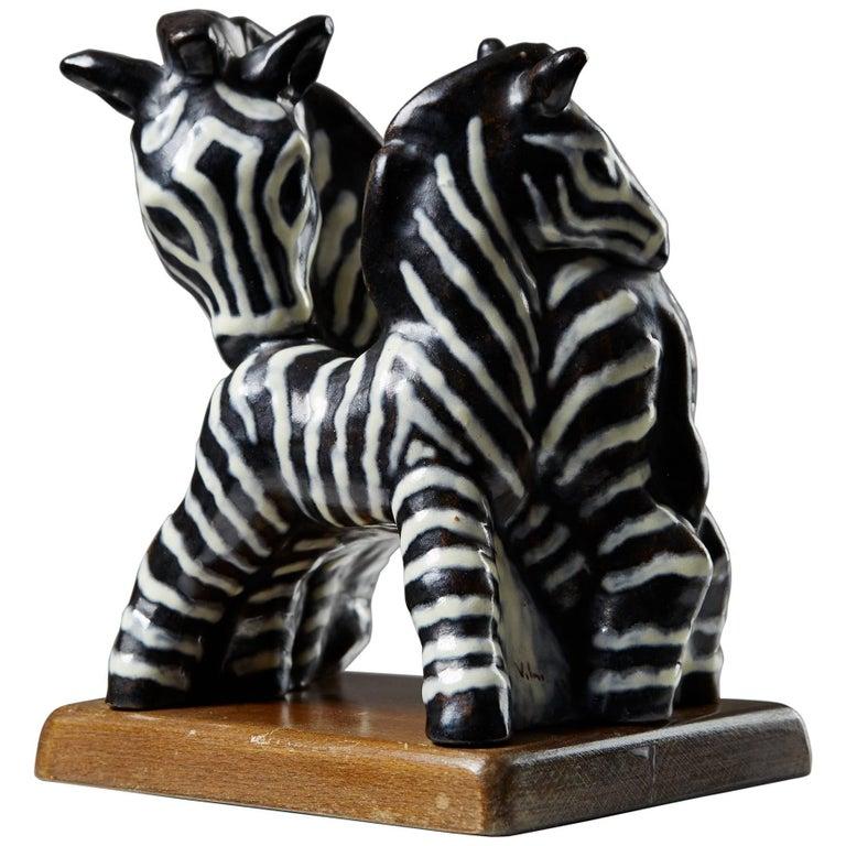 Sculpture Designed by Vicke Lindstrand for Upsala Ekeby, Sweden, 1940s