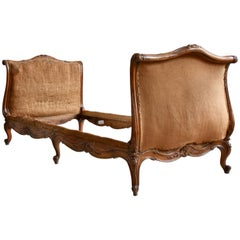 French 19th Century Walnut Daybed