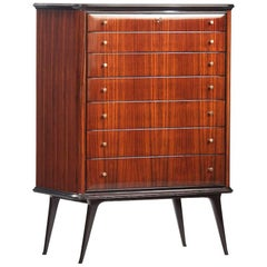 Rosewood Italian Midcentury Chest of Drawers