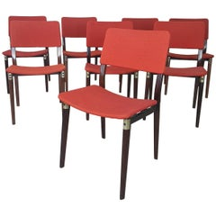 """20th Century by Eugenio Gerli for Tecno Milano """"S82"""" Set of Eight Chairs, 1960s"""