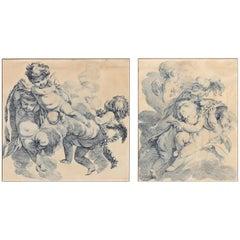 Pair of Early 19th Century Engravings of Cherubs