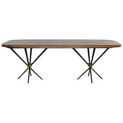 Table by Pierre Lottier Made of Wood and Slate Table, circa 1960, Spain