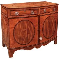18th Century Sheraton Bow-Shaped Satinwood Cabinet